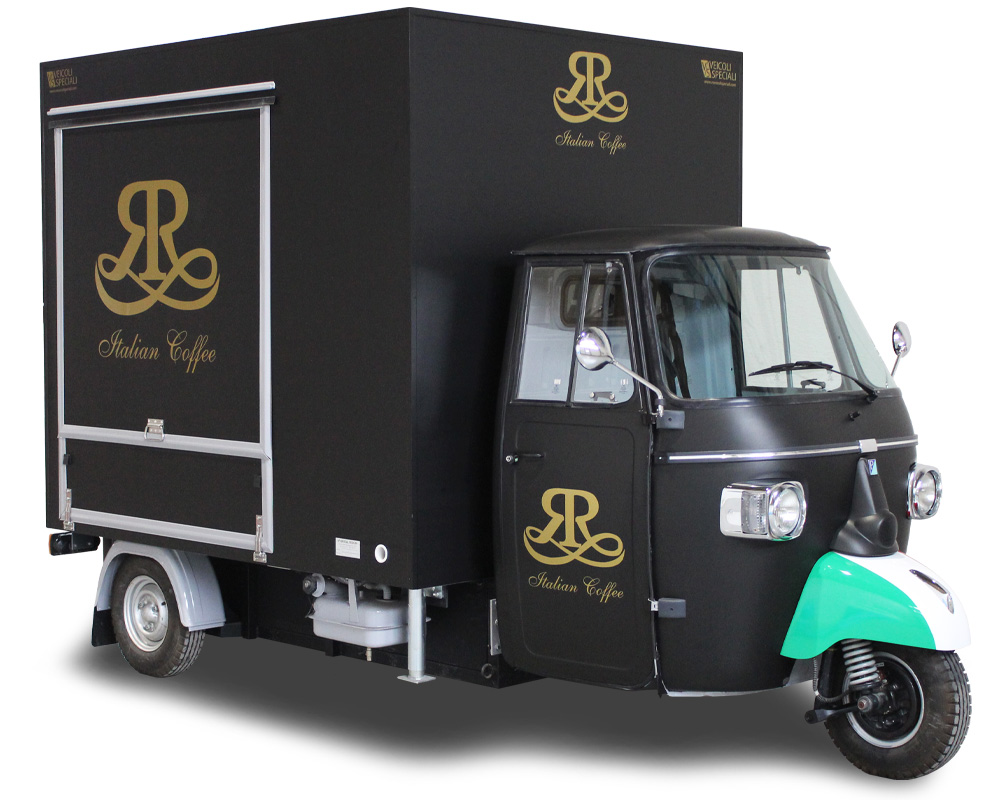 Mobile Coffee Shop built on Piaggio Ape TR® – ITALIAN COFFEE
