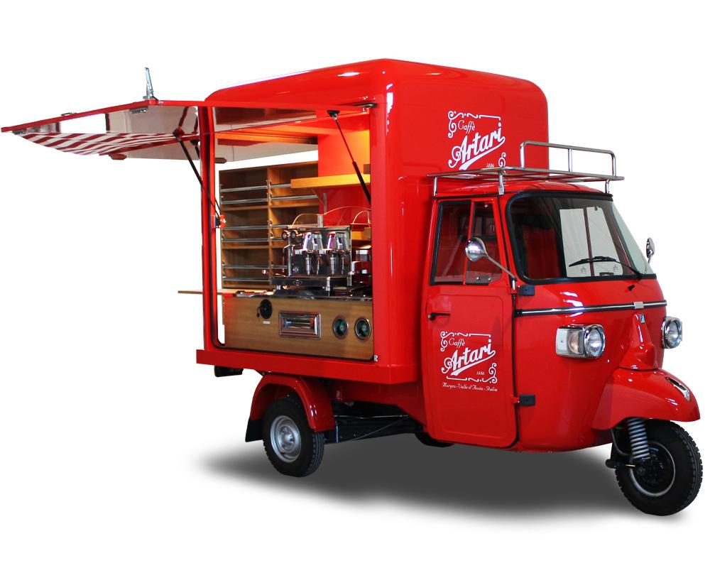 Ape street food Emporio Artari caffetteria italiana a Versailles in Francia