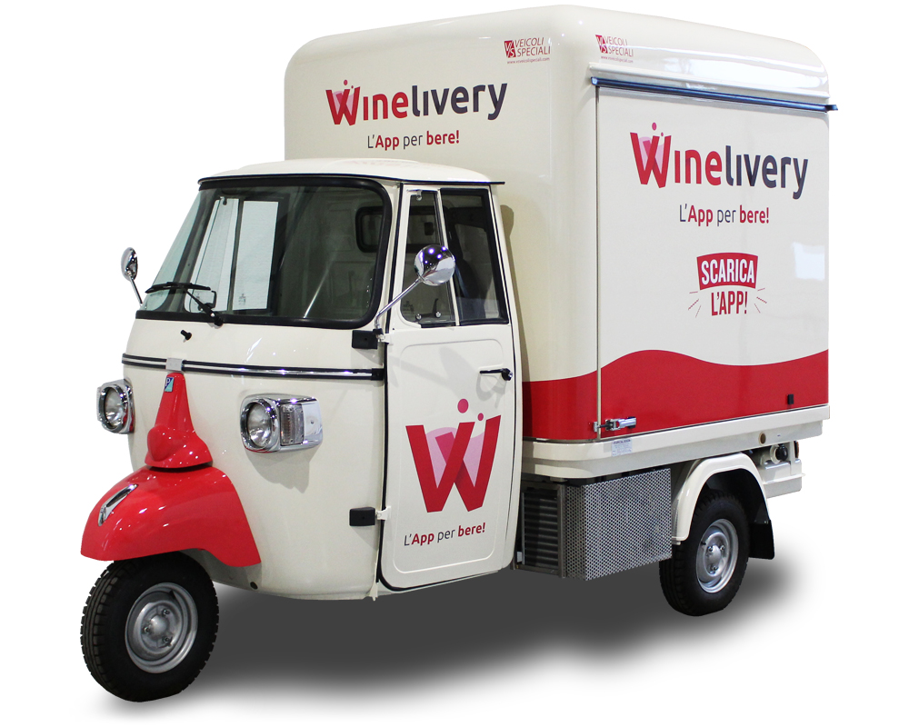 Wine Truck with integrated Cocktail Station | App WINELIVERY