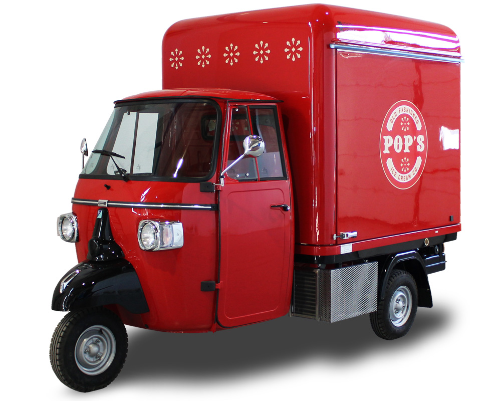 Customized Ice-Cream ApeCar | POP'S | Mobile Sales Spot