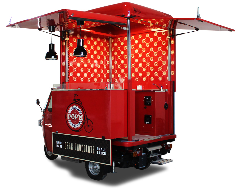 apecar gelati per street food negli USA