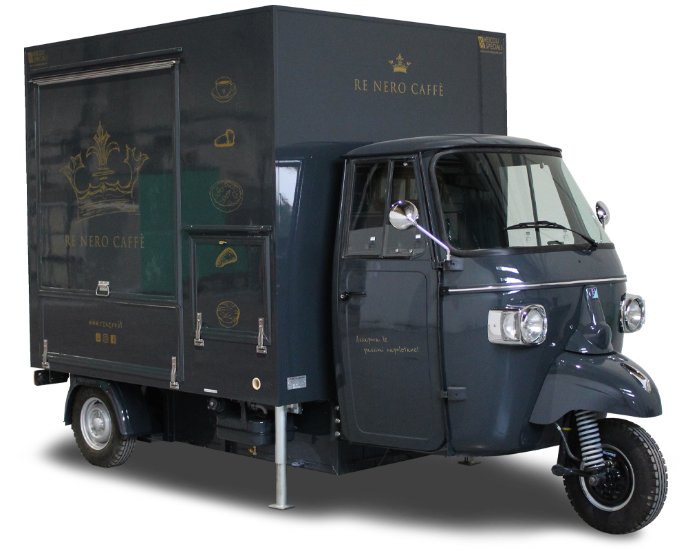 Coffee Truck Piaggio Ape TR | Neapolitan Cafe | Re Nero