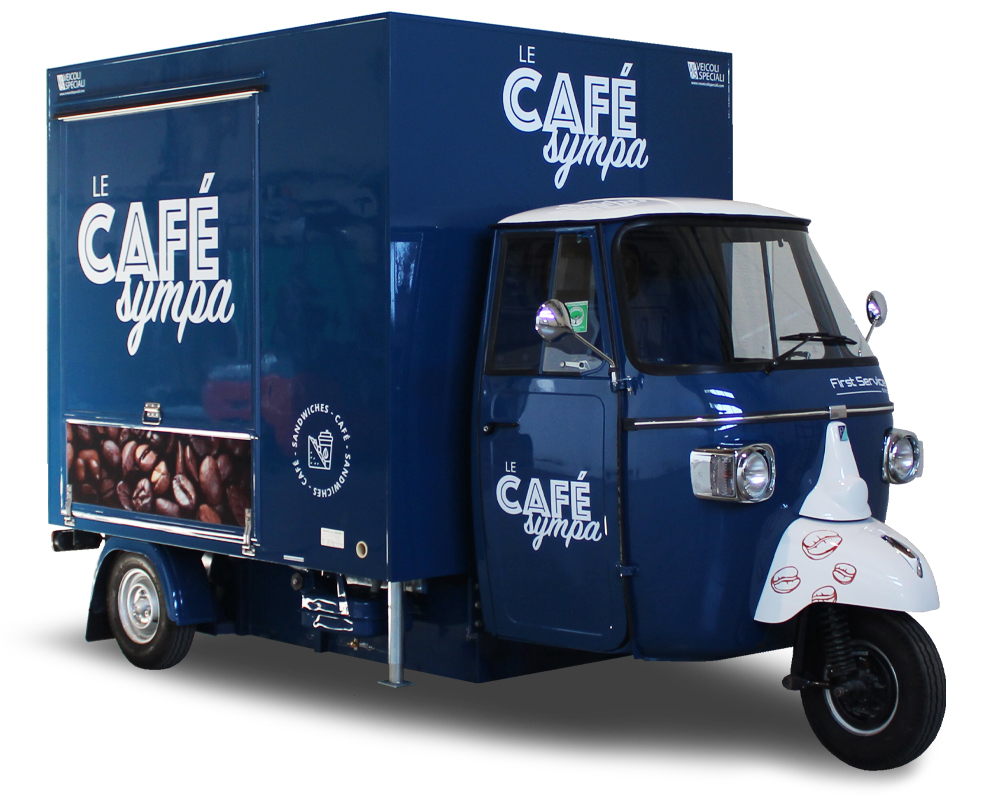 Food Truck Coffee enter a Hospital | Piaggio Ape TR® | Café Sympa