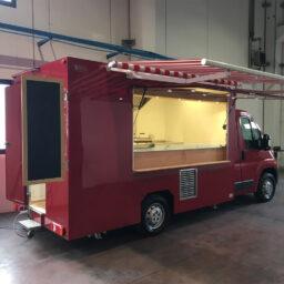 food truck ducato fiat personnalisé rouge
