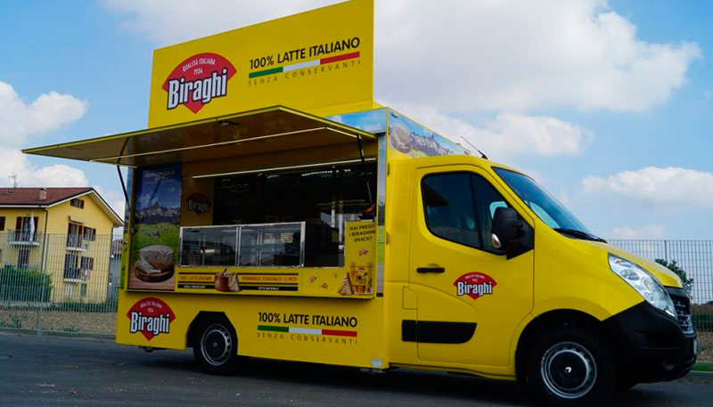 food van biraghi for branding and street marketing