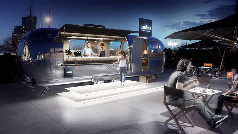 lavazza food truck airstream progetto
