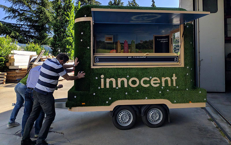Innocent drink trailer for the promotion of the popular brand of smoothies and juices