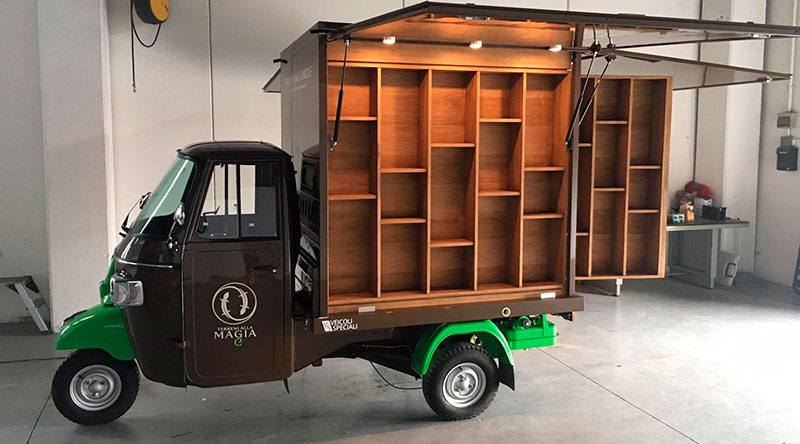 high-end customized food truck built by the manufacturer VS