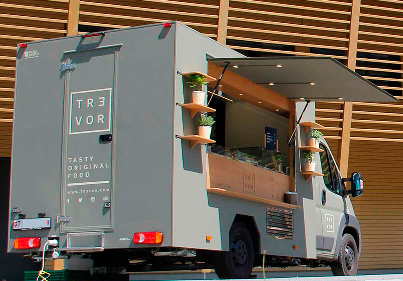 food truck built for Trevor a Michelin star chef who works in Switzerland