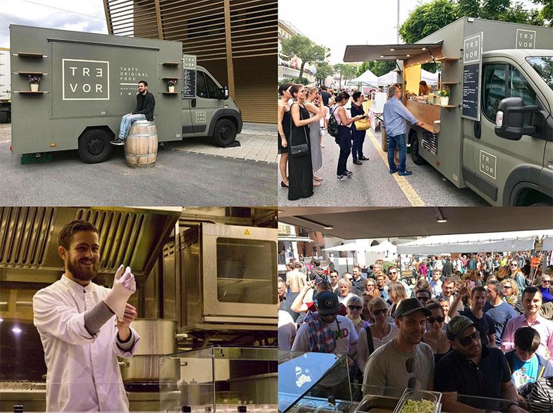 tr3vor chef stellato di successo apre un food truck gourmet in Svizzera