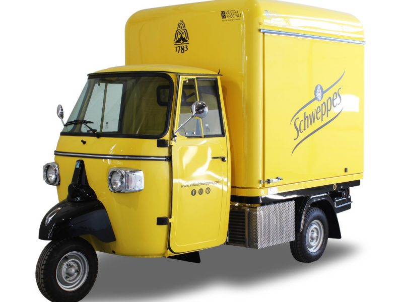 drink truck schweppes mobile cocktail-bar station for branding without giving up on profits