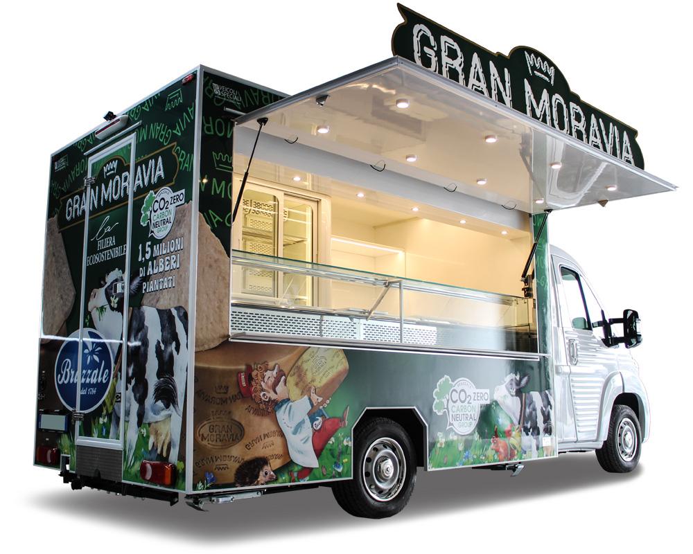 food truck formaggeria e prodotti caseari brazzale
