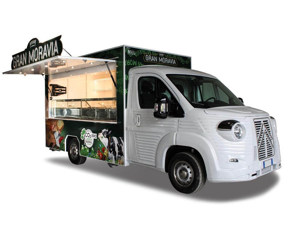 food truck formaggio gran moravia e latticini