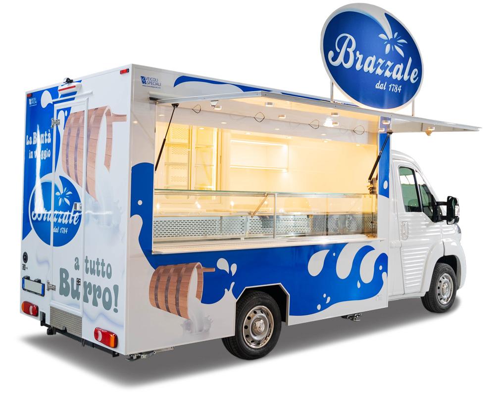 nv food truck tour promozionale azienda casearia brazzale