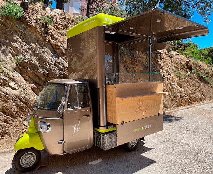 Ape food van conçu pour le chef étoilé français Yorann