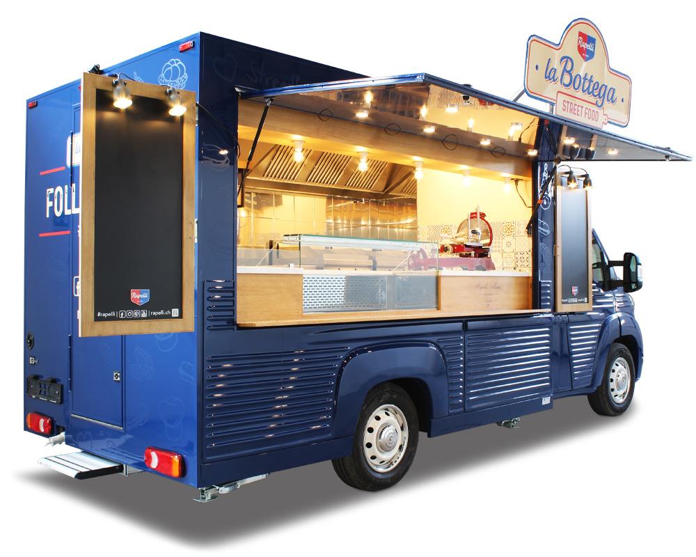 food truck salumeria rapelli gastronomia itinerante usata per strategie di street marketing e branding