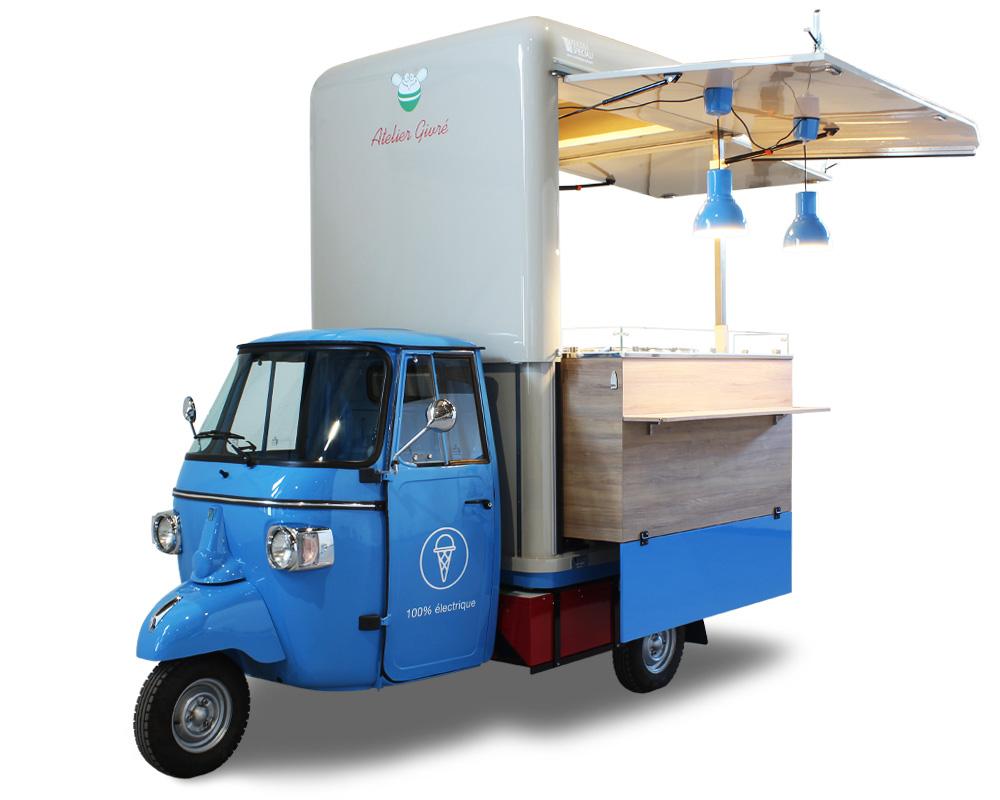 ape elettrica vendita gelato naturale atelier givre