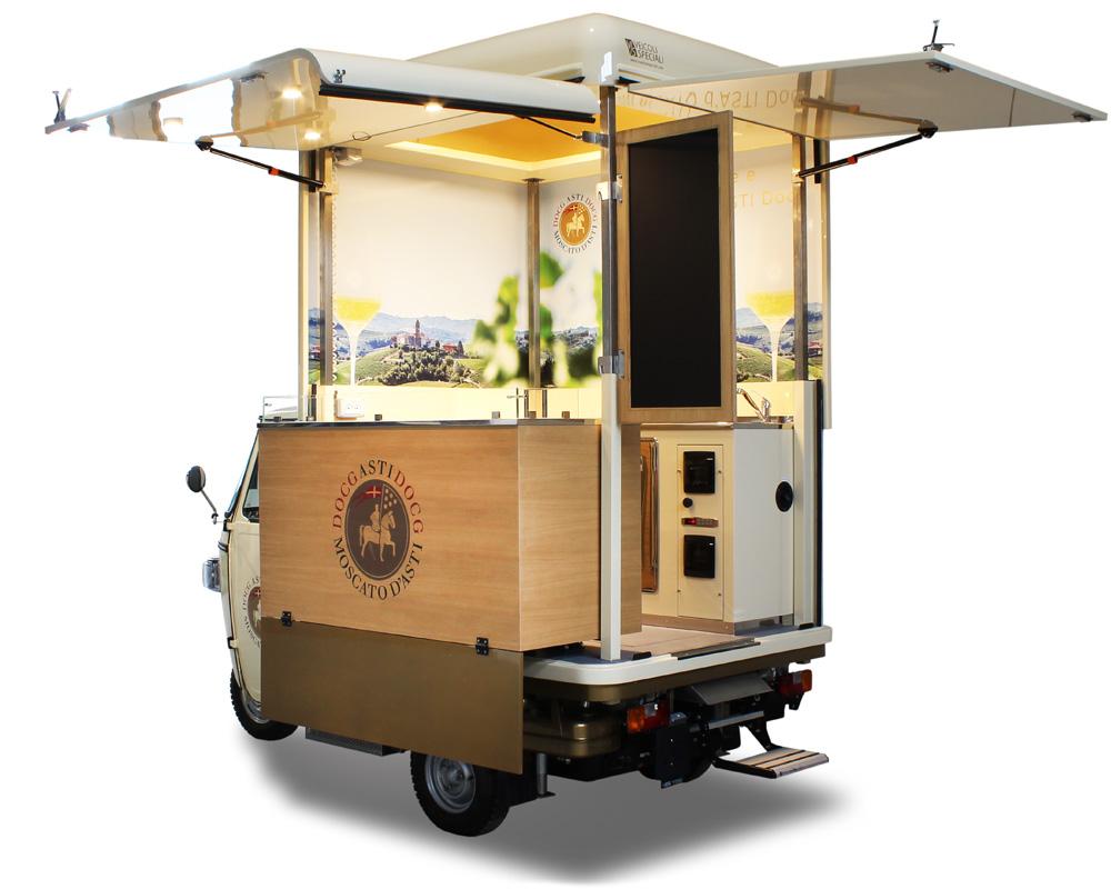 ape wine bar consorzio asti docg food truck vineria per vendere e promuovere vino e spumante