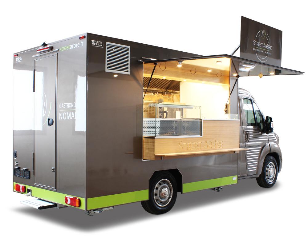 chef stellato lancia progetto street arbre aprendo un food truck per il servizio catering di prossimita in Francia