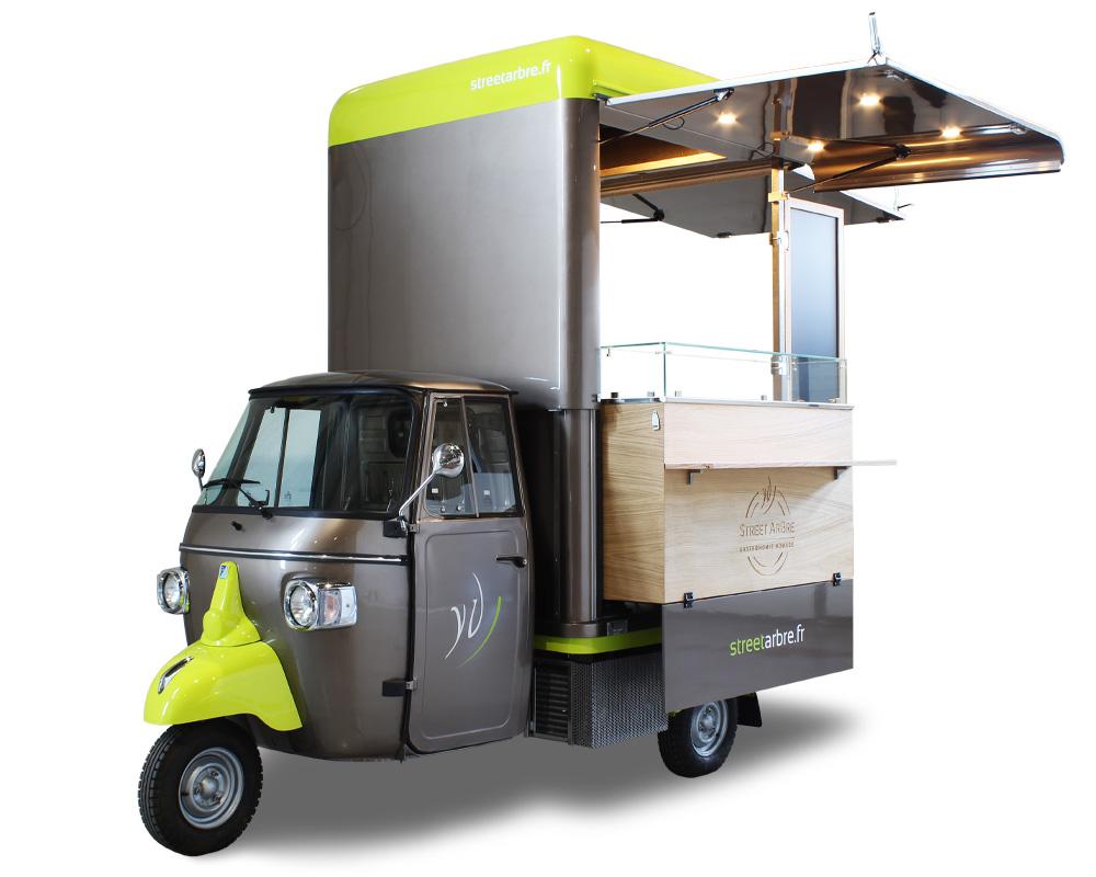 gastro ape v-curve usata da chef stellato francese per servizio catering e delivery di prossimità nella riviera francese